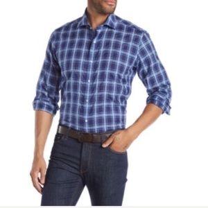 Peter Millar Paradise Plaid Regular Fit Shirt XL